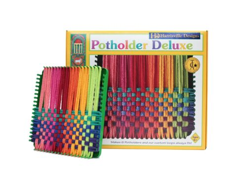 """Traditional Size Makes 6 ... Harrisville Designs 7/"""" Potholder Deluxe Loom Kit"""