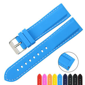 ZLIMSN-Silicone-Rubber-Watch-Strap-Band-Quick-Release-Spring-Bar-18mm-24mm-MS