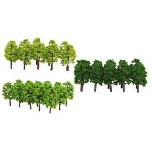 60-pezzi-8-cm-1-150-N-Scala-plastica-modello-alberi-ferrovia-paesaggio