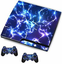 Blue electric Sticker/Skin PS3 Playstation 3 Console/Remote controllers,psk15