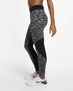 Details about Nike Women's SMALL Pro Hyperwarm Training Tights 933305 010 BlackGrayWhite NWT