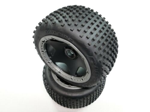 HPI BAJA 5B 5SC GB44DG NEW KING MOTOR Wheels Tires Rear Gray Rings DIRT BUSTER
