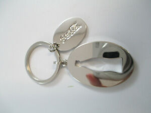 Coca-Cola-Mirror-Finish-Stainless-Steel-Silhouette-Bottle-Keychain
