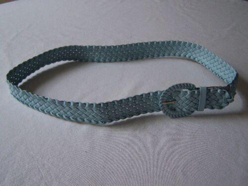 Gürtel Flechtgürtel hellblau geflochten 100 cm