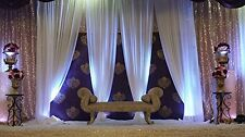"""115"""" x 120"""" WHITE Chiffon Curtains Drapes Panel for Event Decor Backdrop Draping"""