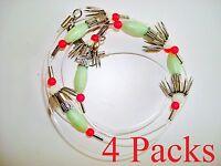 4 Sets 5 Hooks Squid Catchers Rig -glow