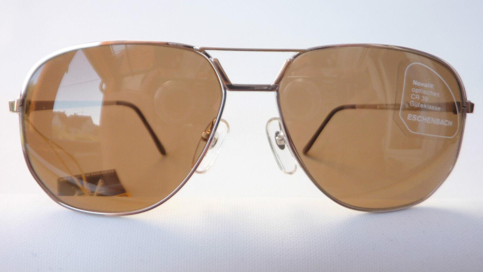 Eschenbach Eschenbach Eschenbach Herren Sonnenbrille silber Gold Metall große Gläser 85%braun Größe L | Reichlich Und Pünktliche Lieferung  | Verrückte Preis  | Genial  e11977
