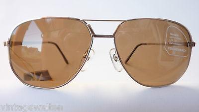 Eschenbach Marken Herren Sonnenbrille Metall große Gläser 85%braun Pilot Aviator