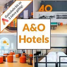 20 Städte Multi Hotel Gutschein 30 A&O Wahl Hotels 2 Personen Frühstück+2 Kinder