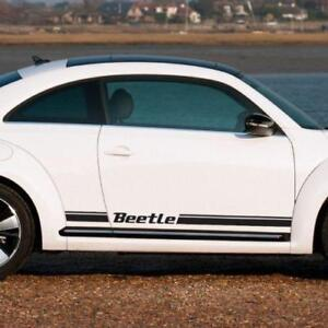 Volkswagen Beelte 2012-2018 Kafer Graphics side stripes decal porsche script