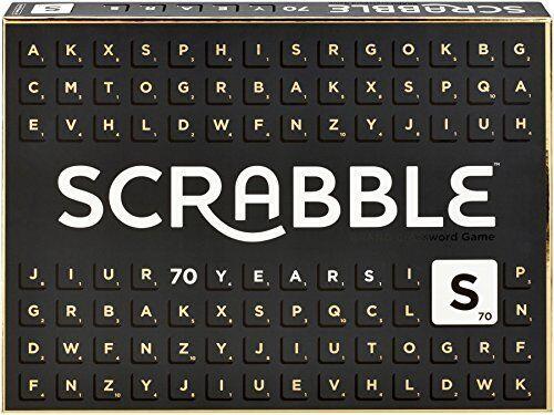 Mattel Games GCT19 Scrabble 70 Jahre Jubiläumsedition Wörterspiel, Familien