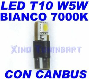 Canbus SMD White LED 7000K T10 W5W Error Free Spies OBD