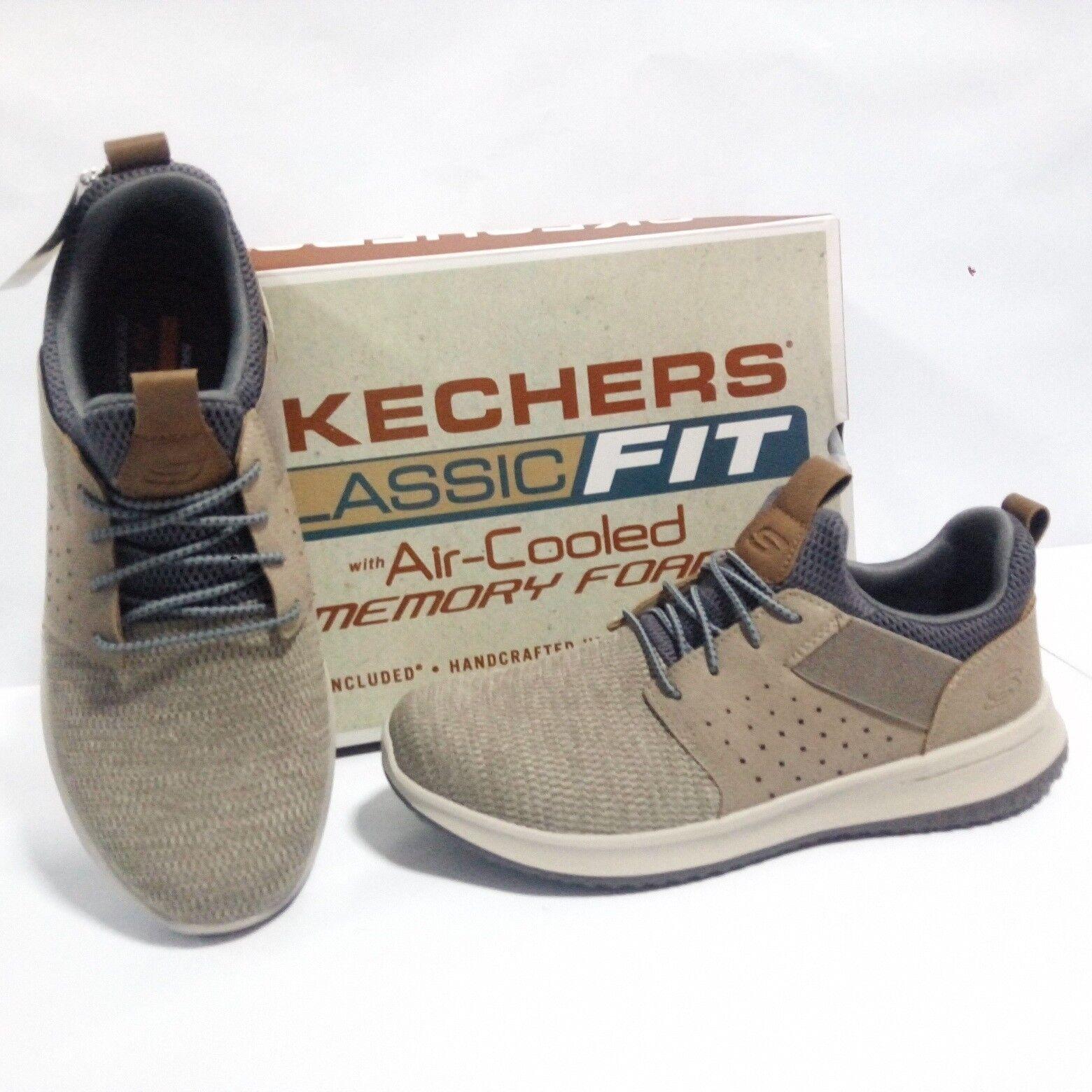 zapatos Skechers hombres - Delson Camben - Beige - 65474