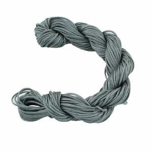 30-Meter-Grau-Makramee-Garn-Nylonfaeden-Kordel-1mm-Shamballa-Band-BEST-C120