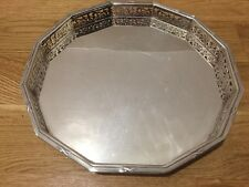 Antique Silver Plated EPNS Dodecagon Drinks Tray Salver Pierced Gallery