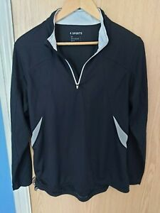 Mens-Large-4-Sports-Cycling-Long-Sleeve-Jersey-Black-in-great-condition