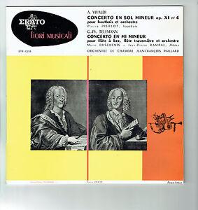 33T-25cm-Orch-Chamber-PAILLARD-Disk-PIERLOT-Oboe-DUSCHENES-RAMPAL-flutes