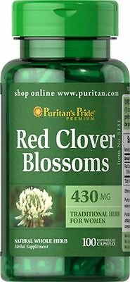 Red Clover Blossoms 430 mg x 100 Capsules Puritan's Pride
