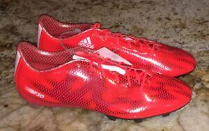 ADIDAS F30 FG Solar Red Black Snakeskin Soccer Cleats Boots NEW Mens ... 45ec02d48207b