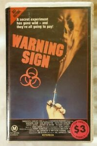 Warning-Sign-VHS-1985-Horror-Hal-Barwood-Sam-Waterston-CBS-FOX-Large-Soft-Case