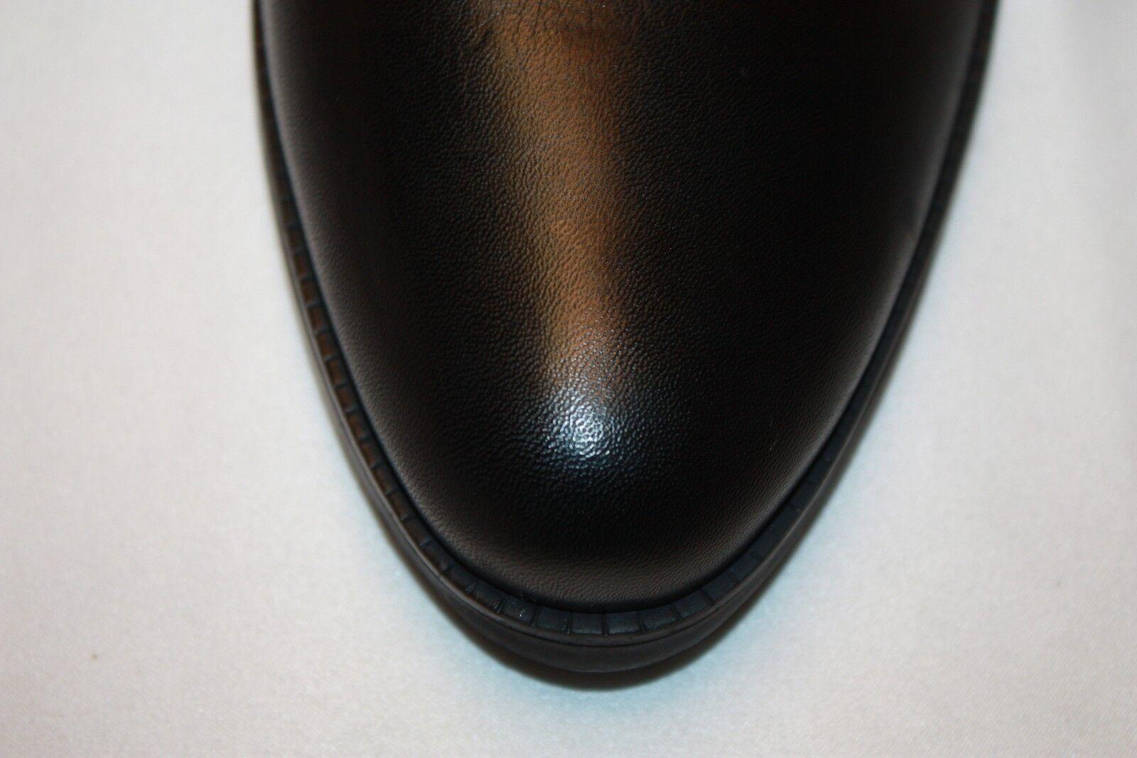 NEW  NIB  SCHUTZ Black Napa Napa Napa Leather Stud ALIRIA Mid Shaft Moto Biker Boots  270 5cc7ec