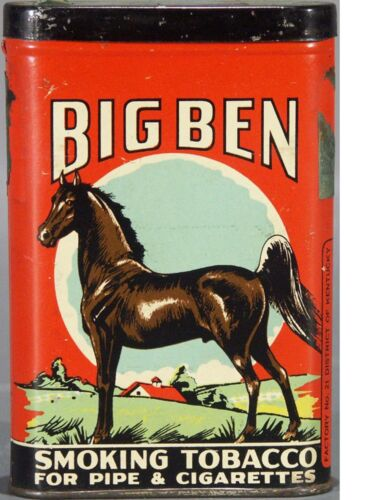 "TIN SIGN /""Big Ben Tobacco/"" Smoking Garage Wall Decor"
