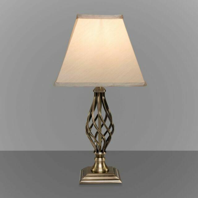 Kingswood Barley Twist Square Base, Brass Square Base Table Lamp