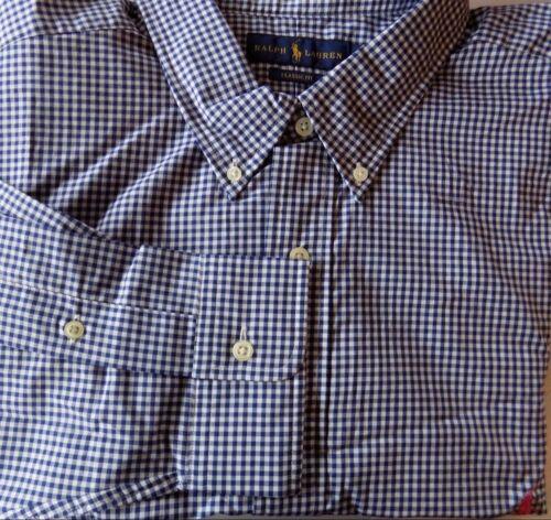 NWT Ralph Lauren PURPLE BLUE or GREEN Poplin Buttonup LS Shirt Big /& Tall