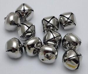 8 Silver 25mm Jingle Bells for CraftsCraft Bells