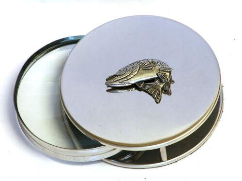 Pike Turning Magnifying Reading Glass Desktop Office Coarse Fishing Gift