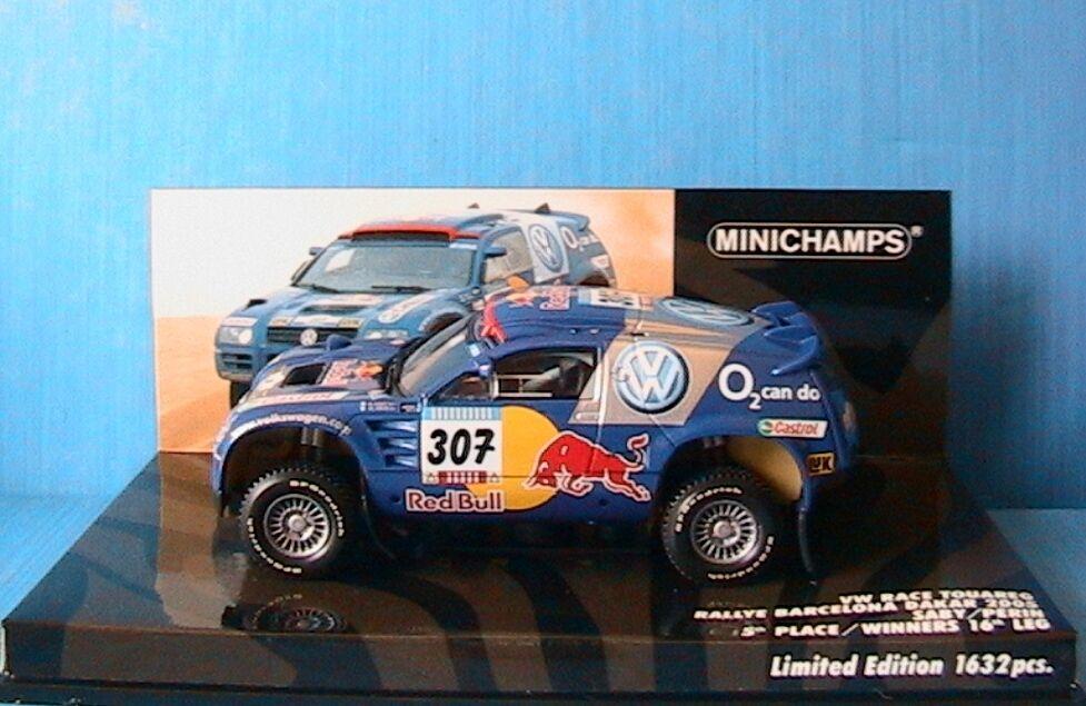VW RACE TOUAREG  307 BARCELONA DAKAR 2005 SABY PERIN MINICHAMPS 436055307 1/43
