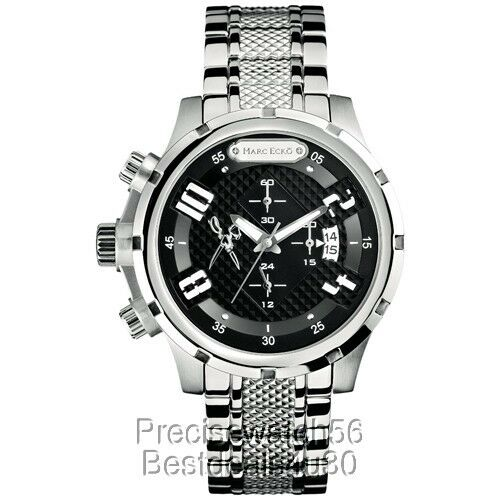 New Marc ECKO UNLTD Dress Men's lefty chronograph steel watch M20074G1