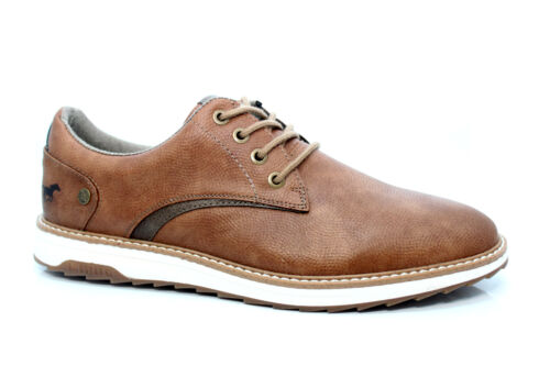 MUSTANG SMART CASUAL LACE UP SHOES Tan