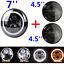 7-039-039-LED-SCHEINWERFER-60W-2x-4-5-039-039-ZUSATZSCHEINWERFER-fuer-Harley-DOT-Geprueft Indexbild 4