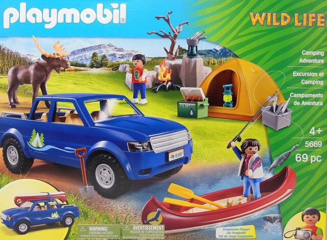 Playmobil Wild Life Camping Adventure Playset 5669 69pcs