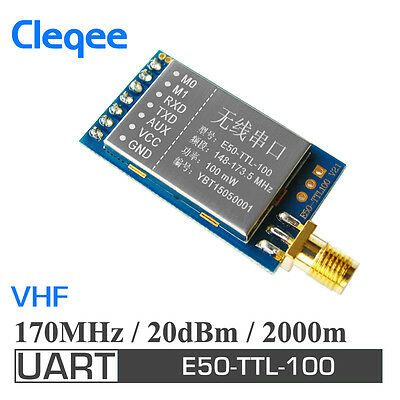 E50-TTL-100 2PCS VHF 170MHz 2km UART 20dBm Wireless RF Transceiver Module Kit