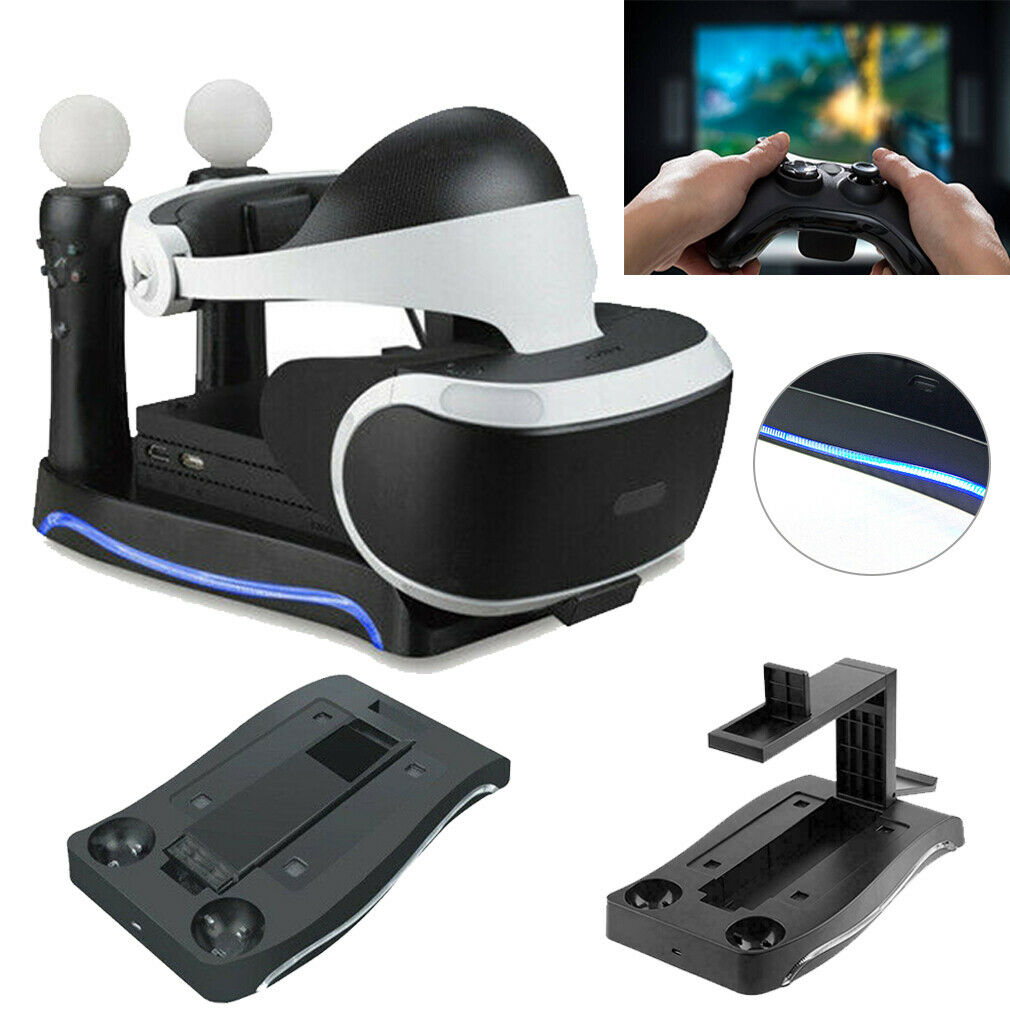 4 in 1 Charger Dock Charging Stand Holder For PS4 VR II PS Game Controller New