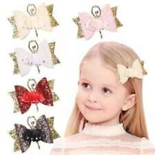 Ballet Dance Girl Headwear  Glitter Bow  Sequins Hair Clips Bowknot Hairpin