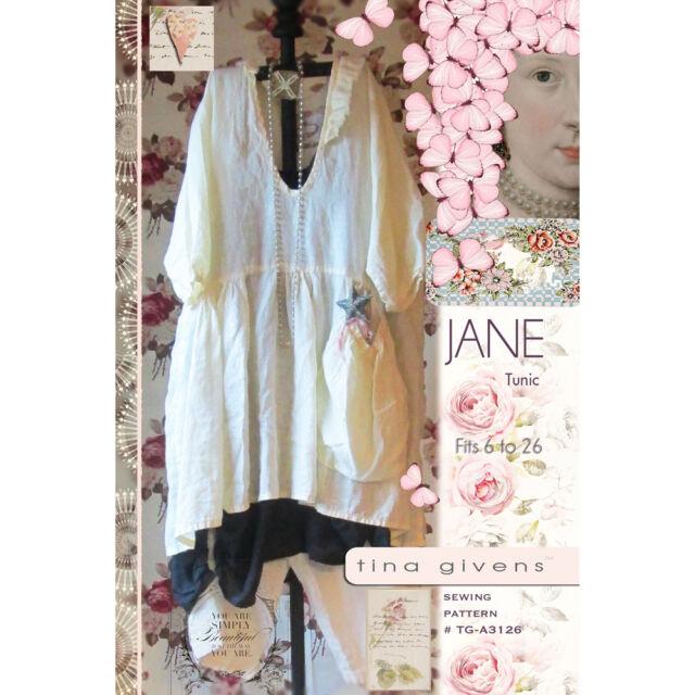 """TINA GIVENS """"JANE TUNIC"""" Sewing Pattern"""