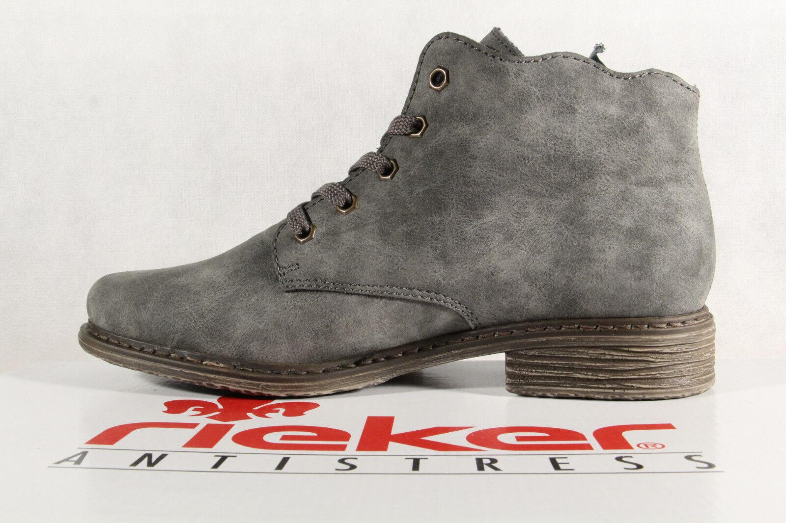 Rieker Damen Stiefel L2133 Stiefeletten Schnürstiefel grau/ multi L2133 Stiefel NEU 6f5bc6