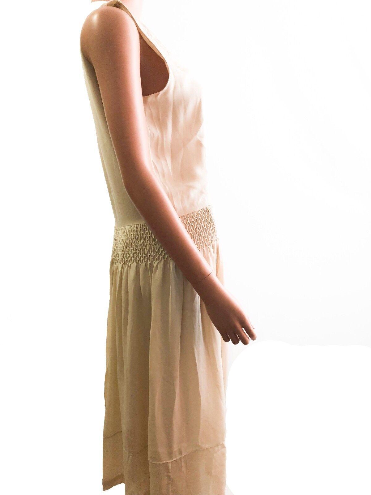Haute Hippie Sleeveless Sleeveless Sleeveless   With an Flower Ornament Applique Silk Midi  Size S a64588