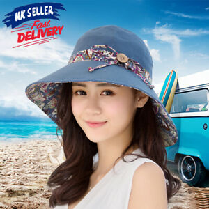 385649a235de60 Summer Hat Travel Cap Beach Sun Hats Folding Wide Brim Floppy ...