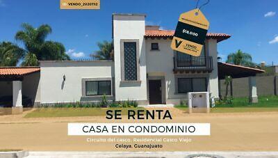 VD-2020732 Renta de Casa - 3 Recamaras, Colonia Residencial Casco Viejo; Celaya