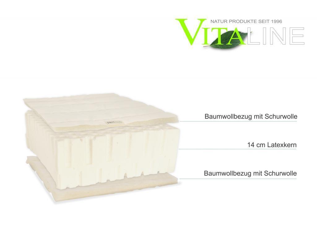Materasso Materasso Materasso naturale vita-line allo stato puro 15 cm Lattice 9e89d4