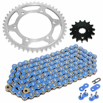 Caltric Blue O-Ring Drive Chain /& Sprockets Kit Fits YAMAHA 600R FZR600R FZR-600R 1990-1999