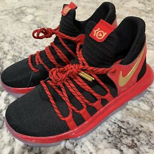 5f1b6faaa6f Nike Zoom KD10 LE (GS) Black University Red Metallic Gold AJ7220-076 ...
