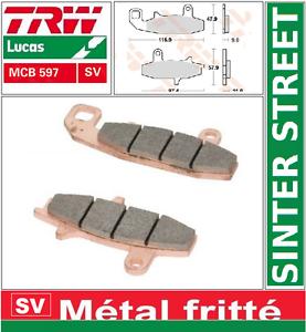 /> SU 88 2 Plaquettes Frein Avant TRW MCB597SV Sinter Suzuki DR 750 S