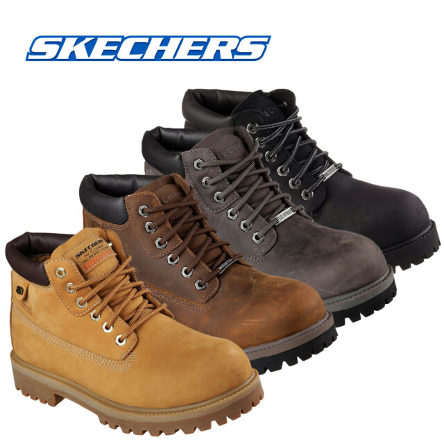 simbólico borde fósil  SKECHERS Sergeants Verdict 4442/wtn Mens Work Boot Water Proof Sz 8.5 for  sale | eBay