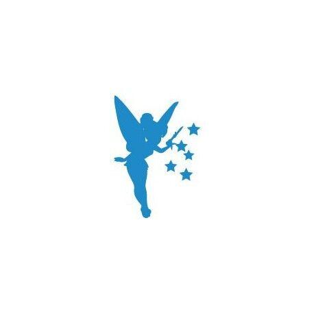 Fée clochette autocollant stickers bleue Taille:8 cm couleur : Gris