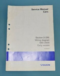 image is loading 2000-volvo-s80-service-shop-repair-manual-wiring-